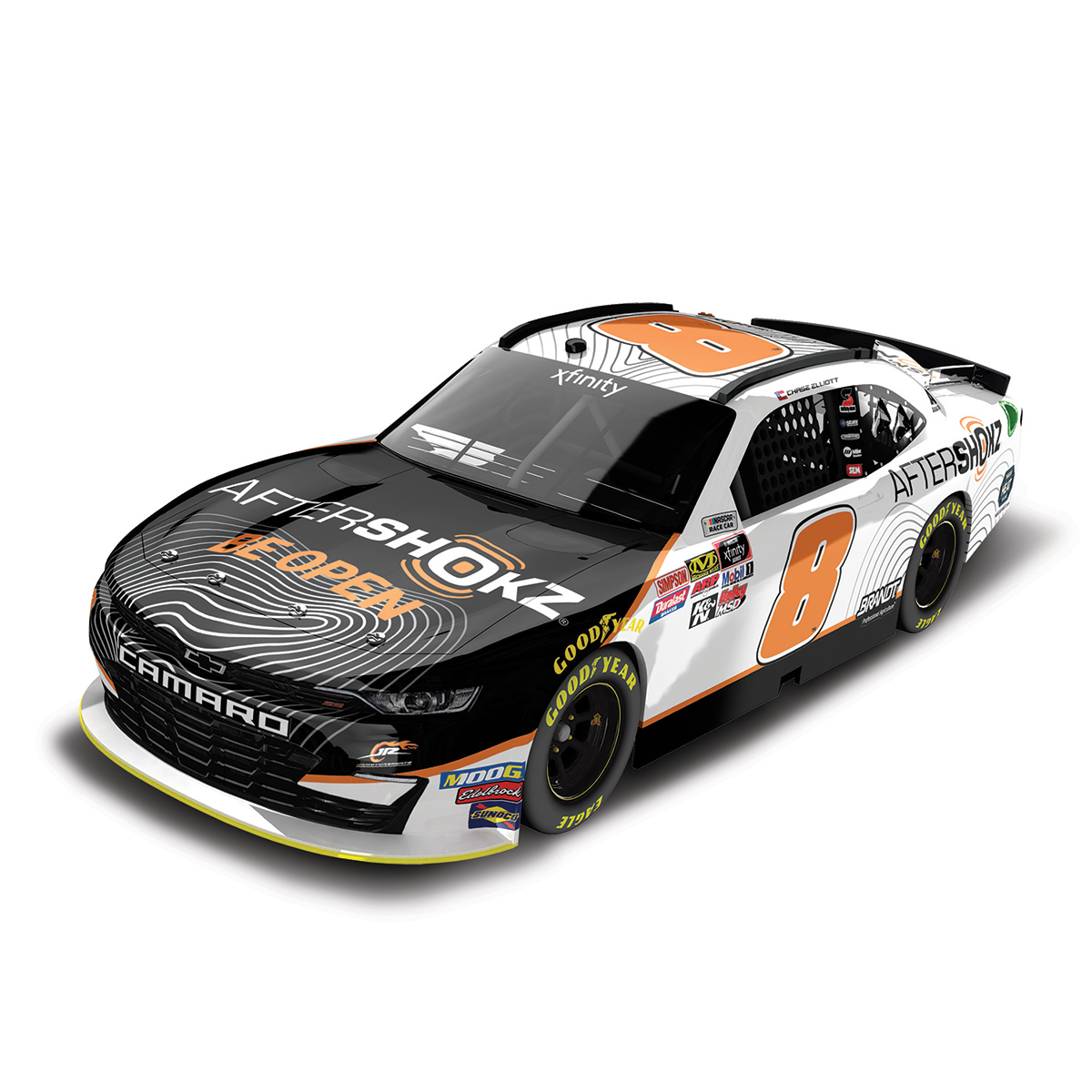 Chase Elliott #8 NASCAR 2019 Aftershokz 1:64 Die Cast