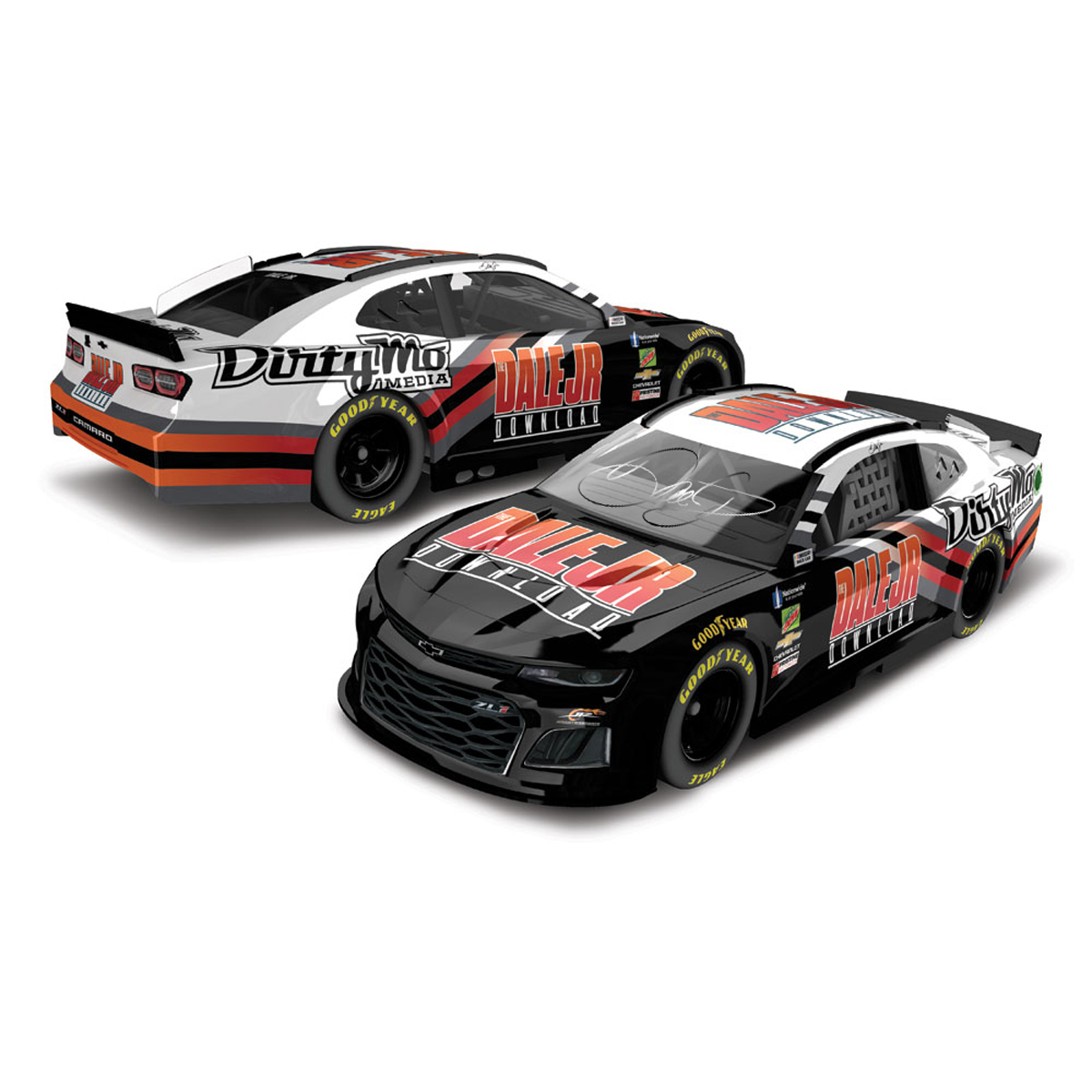 AUTOGRAPHED Dale Jr Download Dirty Mo Media 1:24 Die-Cast