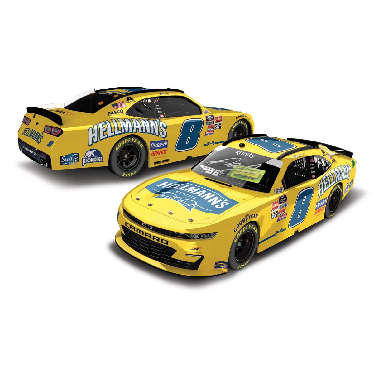 Dale Jr 2020 Xfinity Hellmann's Autographed HO 1:24 Die-Cast
