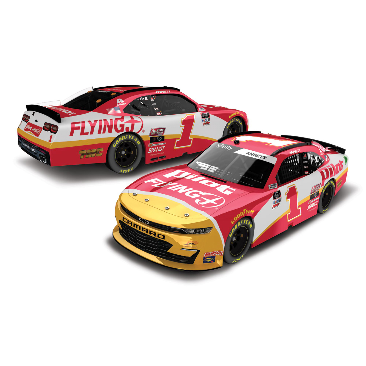 Michael Annett #1 Pilot Flying J 2020 NASCAR Xfinity Series HO: 1:24 Die Cast