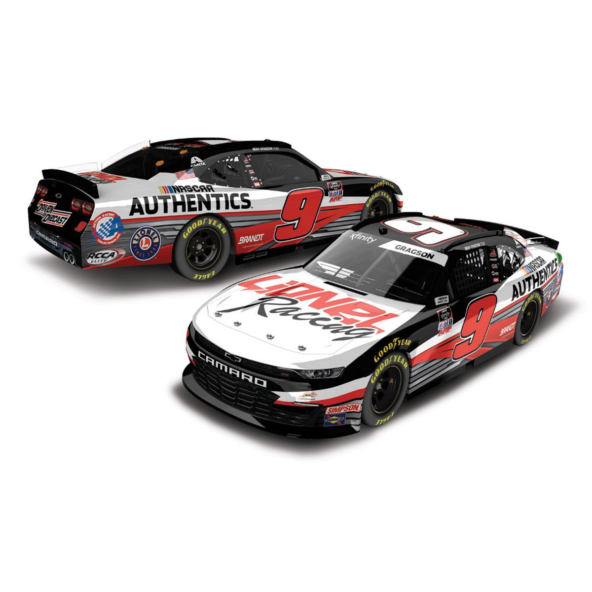 "Noah Gragson #9 Lionel Racing ""Driven by Die-Cast"" 2020 NASCAR Xfinity Series HO: 1:24 Die Cast"