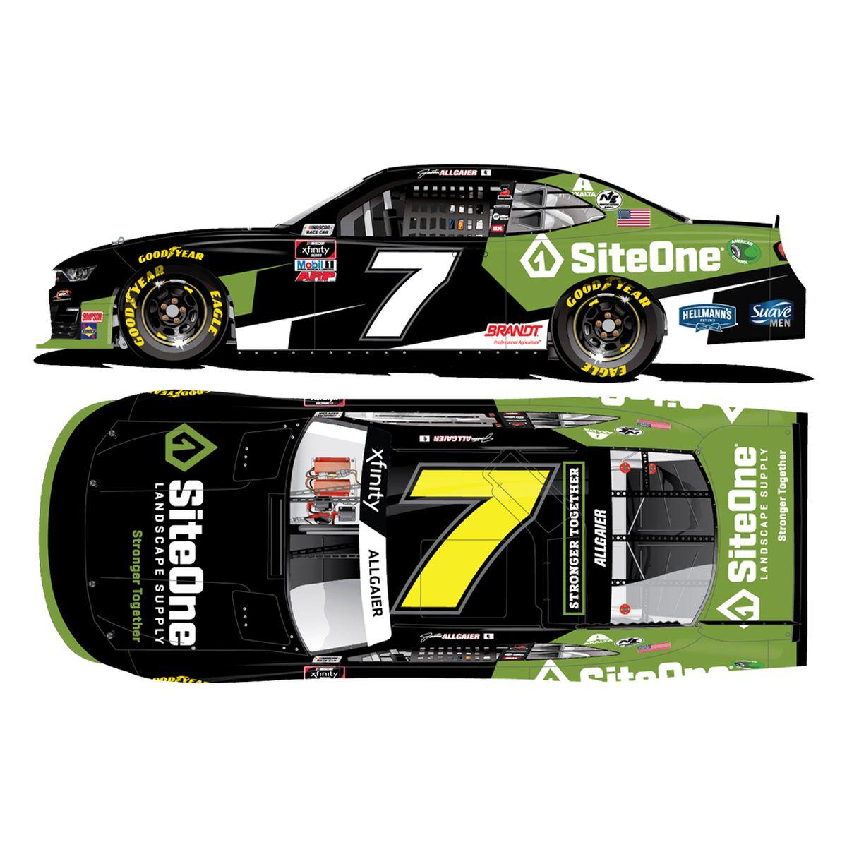 Justin Allgaier #7 SiteOne 2020 NASCAR Xfinity Series Autographed: 1:24 Die Cast
