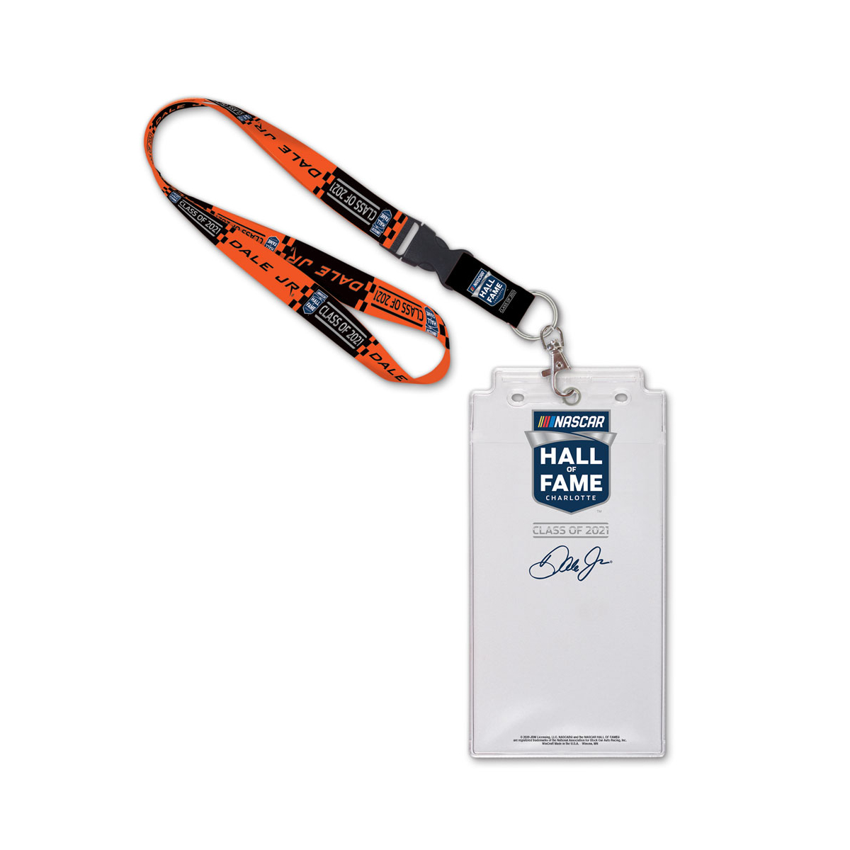 Dale Jr 2021 NHOF Inductee Lanyard with Credential Holder
