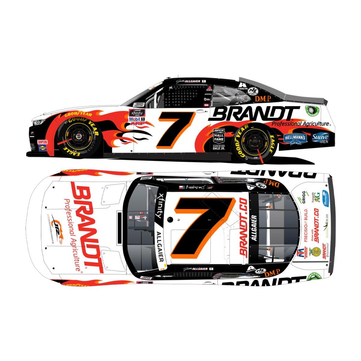Justin Allgaier #7 BRANDT Chevrolet Camaro HO: 1:24 Die Cast