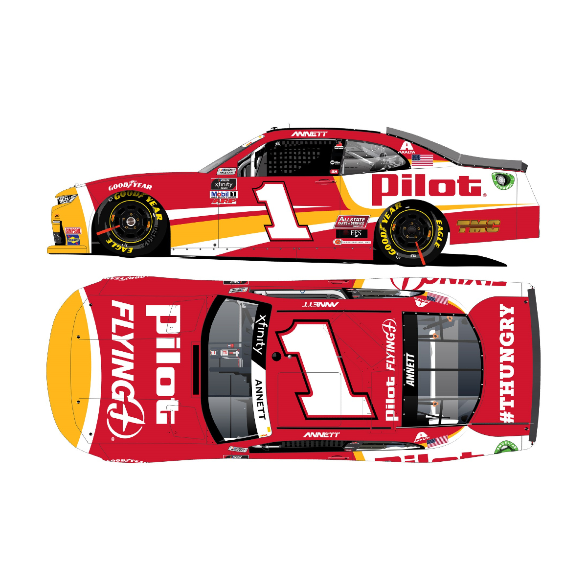 Michael Annett No. 1 Pilot / Flying J 2021 Autographed: 1:24 Die Cast