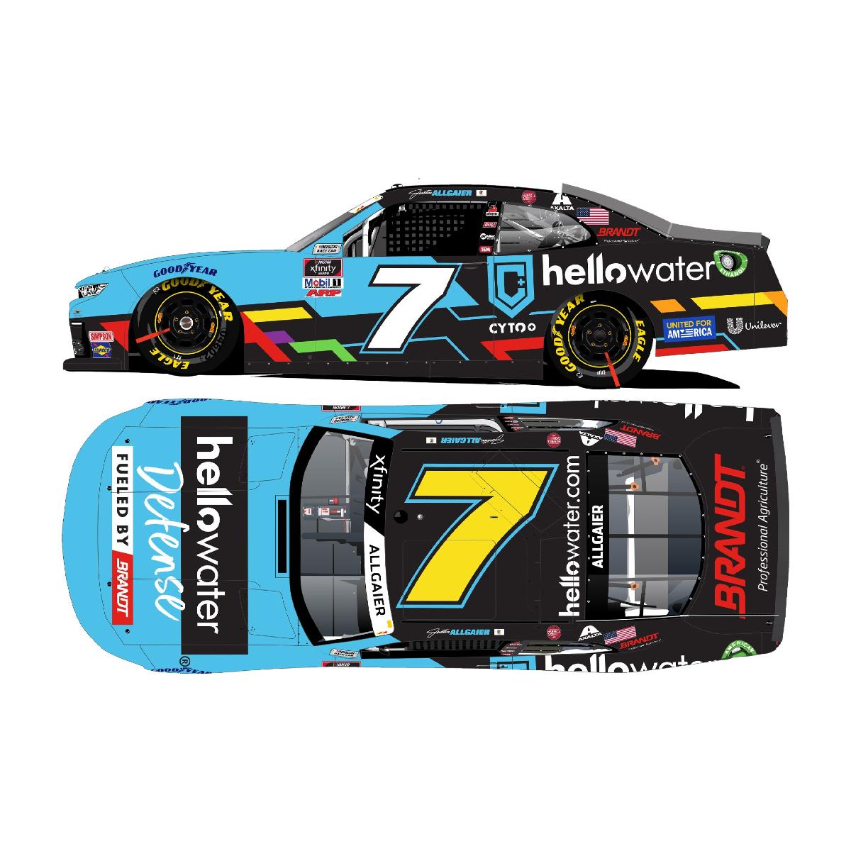 Justin Allgaier #7 2021 Hellowater Chevrolet 1:64 Die-Cast