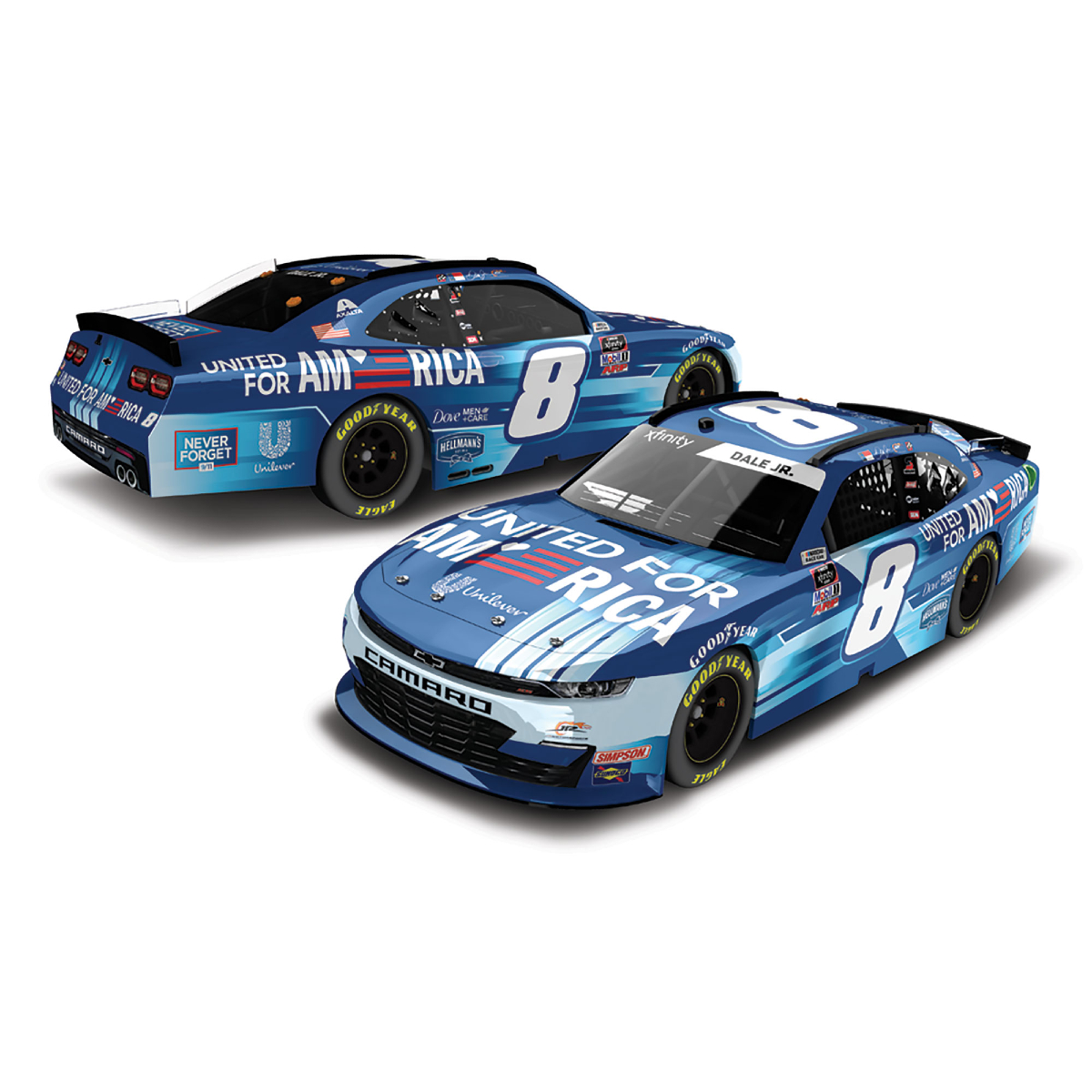 Dale Earnhardt Jr. #8 2021 United for America 1:64 Die-Cast