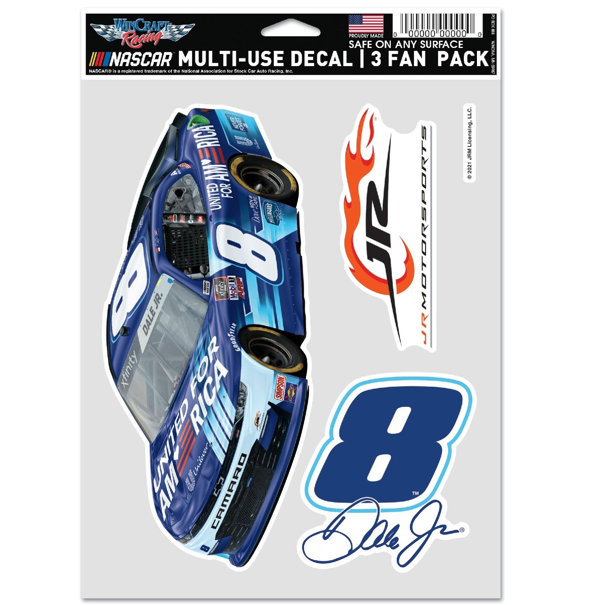 Dale Jr. 2021 United for America Multi-Use Decal