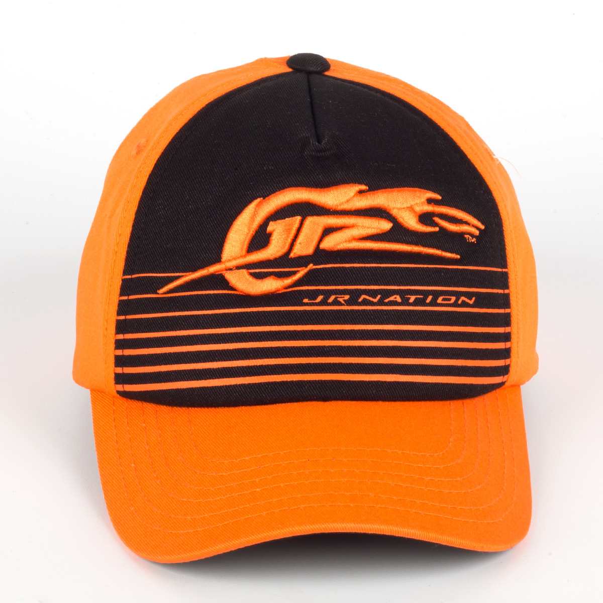 JR Nation Youth Orange Black Stripe Cap