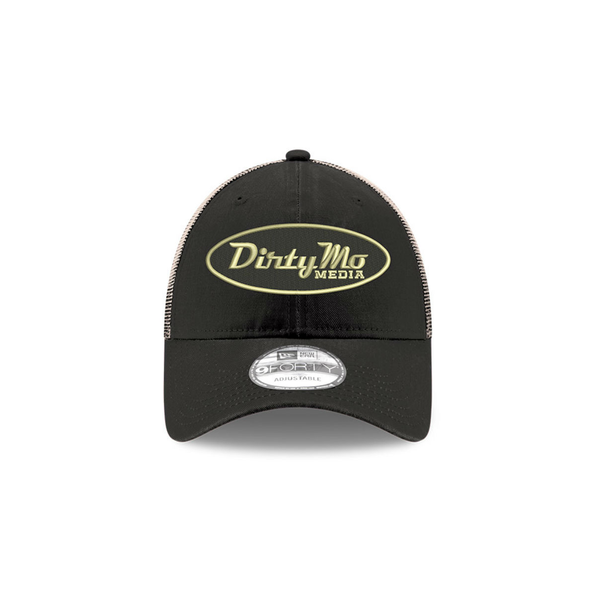 Dale Jr Dirty Mo Media 2020 New Era 9FORTY Black Stone Trucker Hat