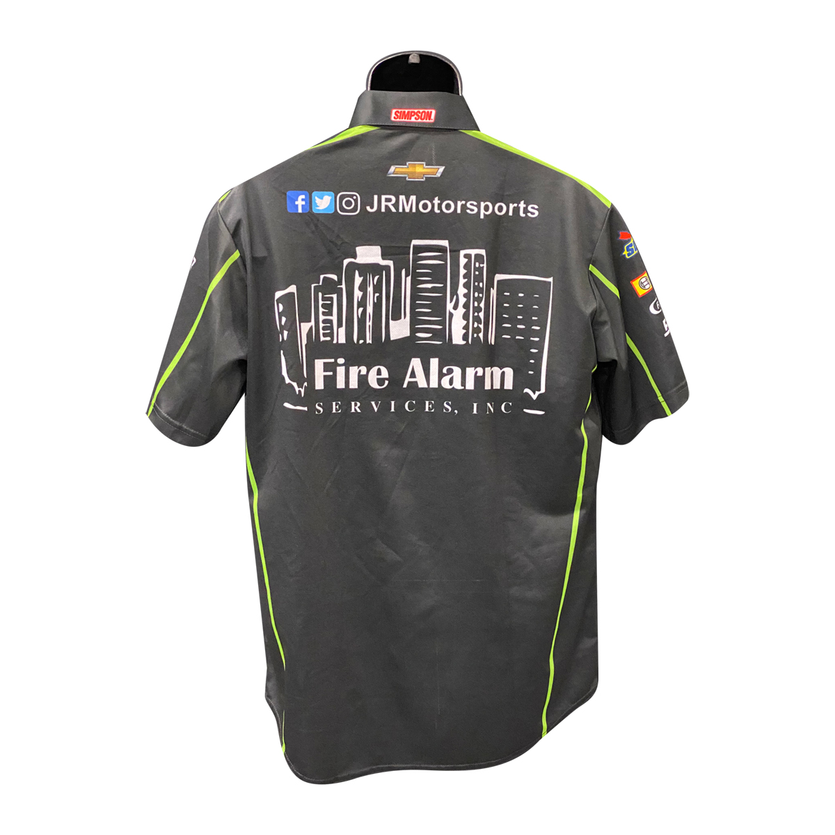 JRM Crew Shirt 2019 RACE USED - Fire Alarm Services #8