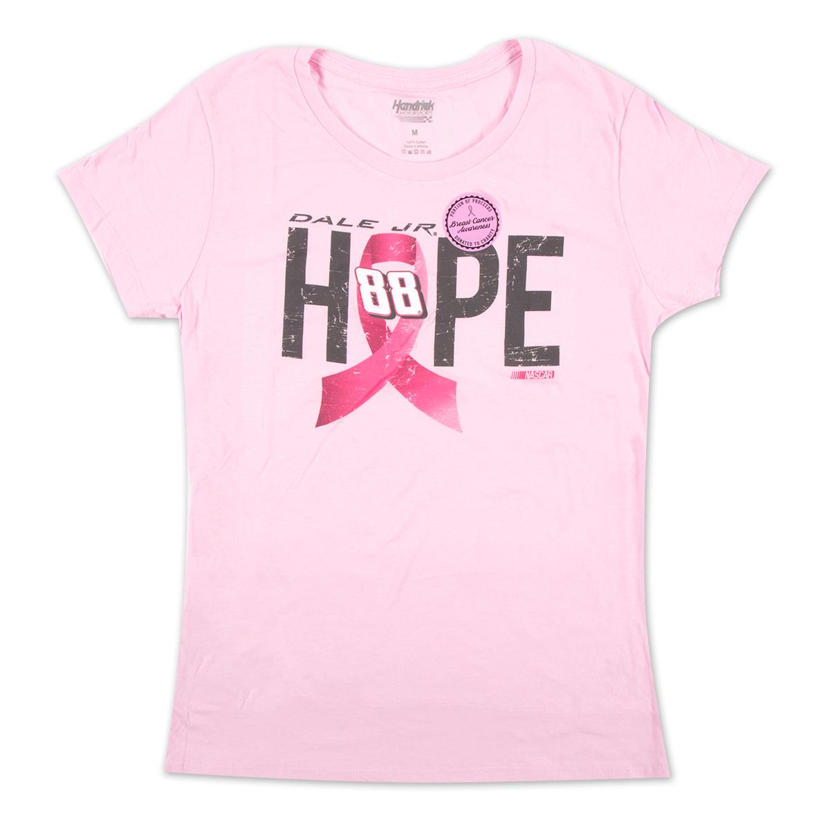 Dale Earnhardt, Jr. #88 Ladies Breast Cancer Awareness Hope T-Shirt