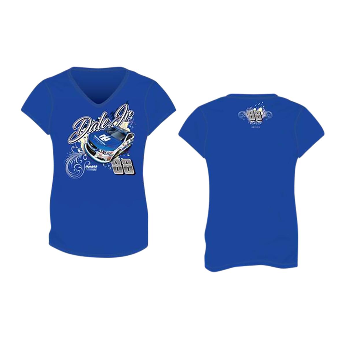 Dale Earnhardt Jr #88 2017 Nationwide Ladies V-neck T-shirt