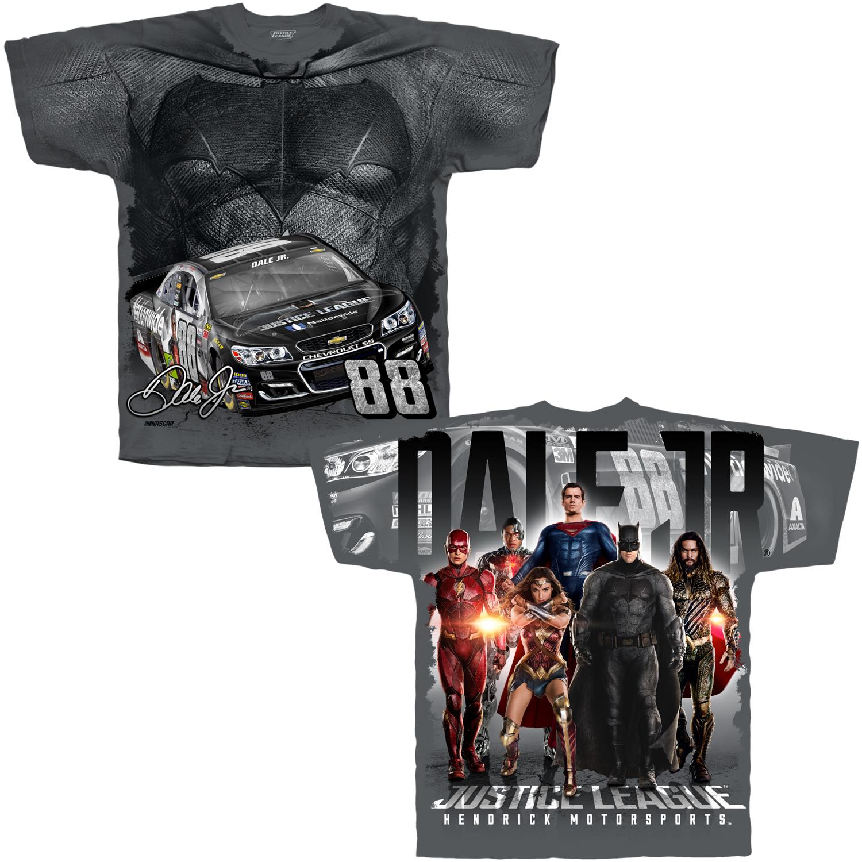 Dale Jr Justice League Total Print T-shirt - CH/3X