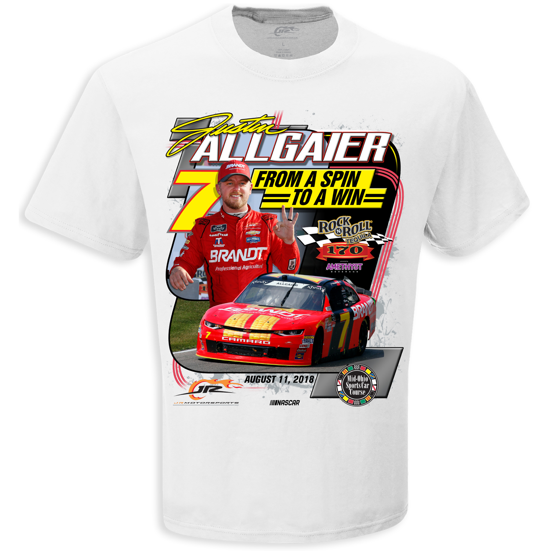 Justin Alligaier  ROCK N ROLL TEQUILA 170 Xfinity RACE WIN T-shirt