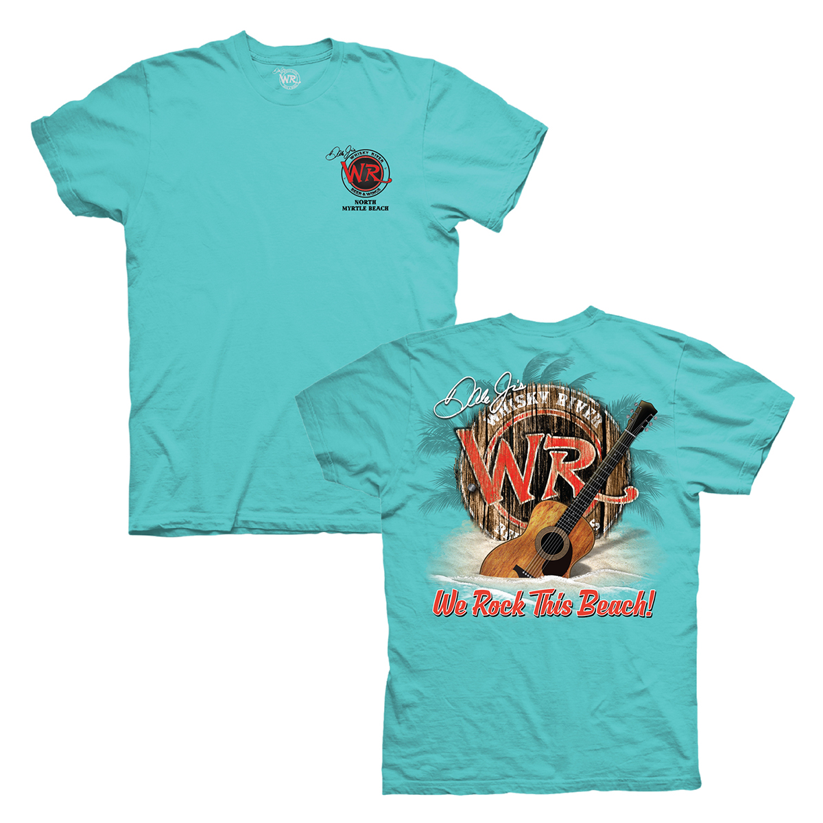 Whisky River North Myrtle Beach Rock the Beach T-shirt - Blue
