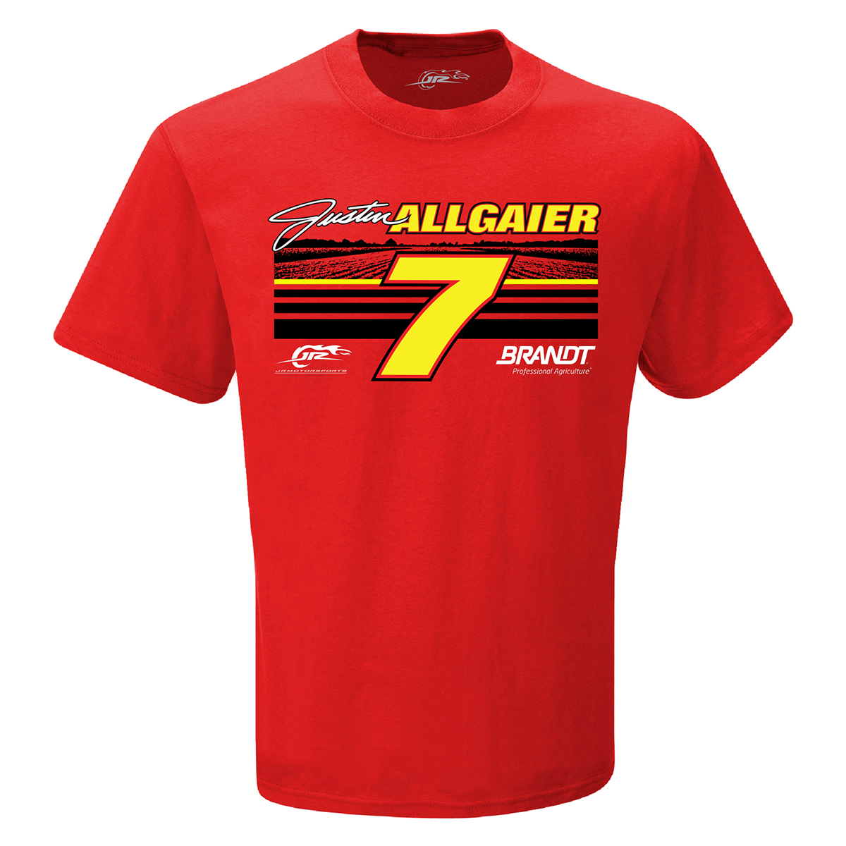 #7 NASCAR Justin Allgaier Professional Agriculture Red T-shirt