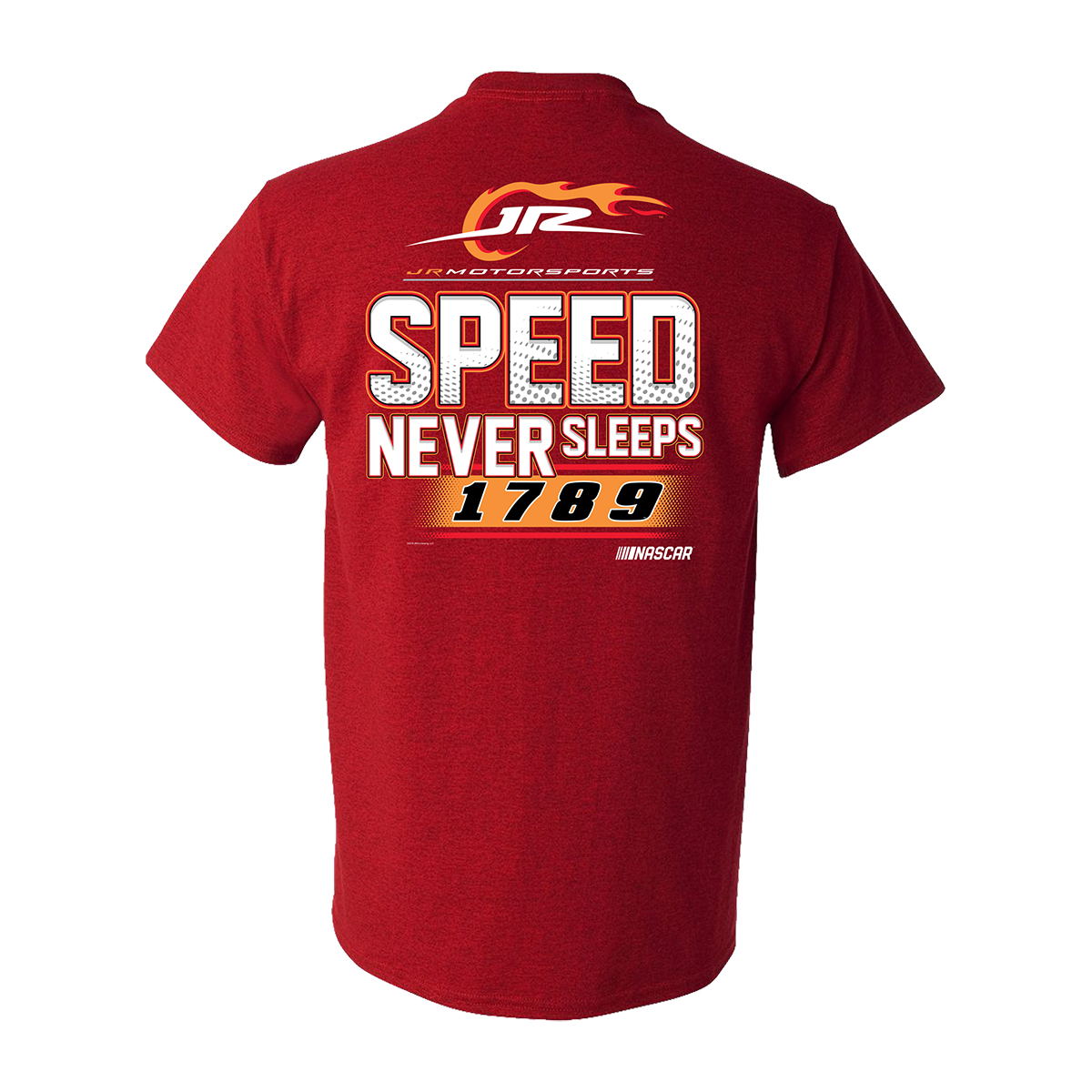 2019 NASCAR Jr. Motorsports Speed Never Sleeps Red T-shirt