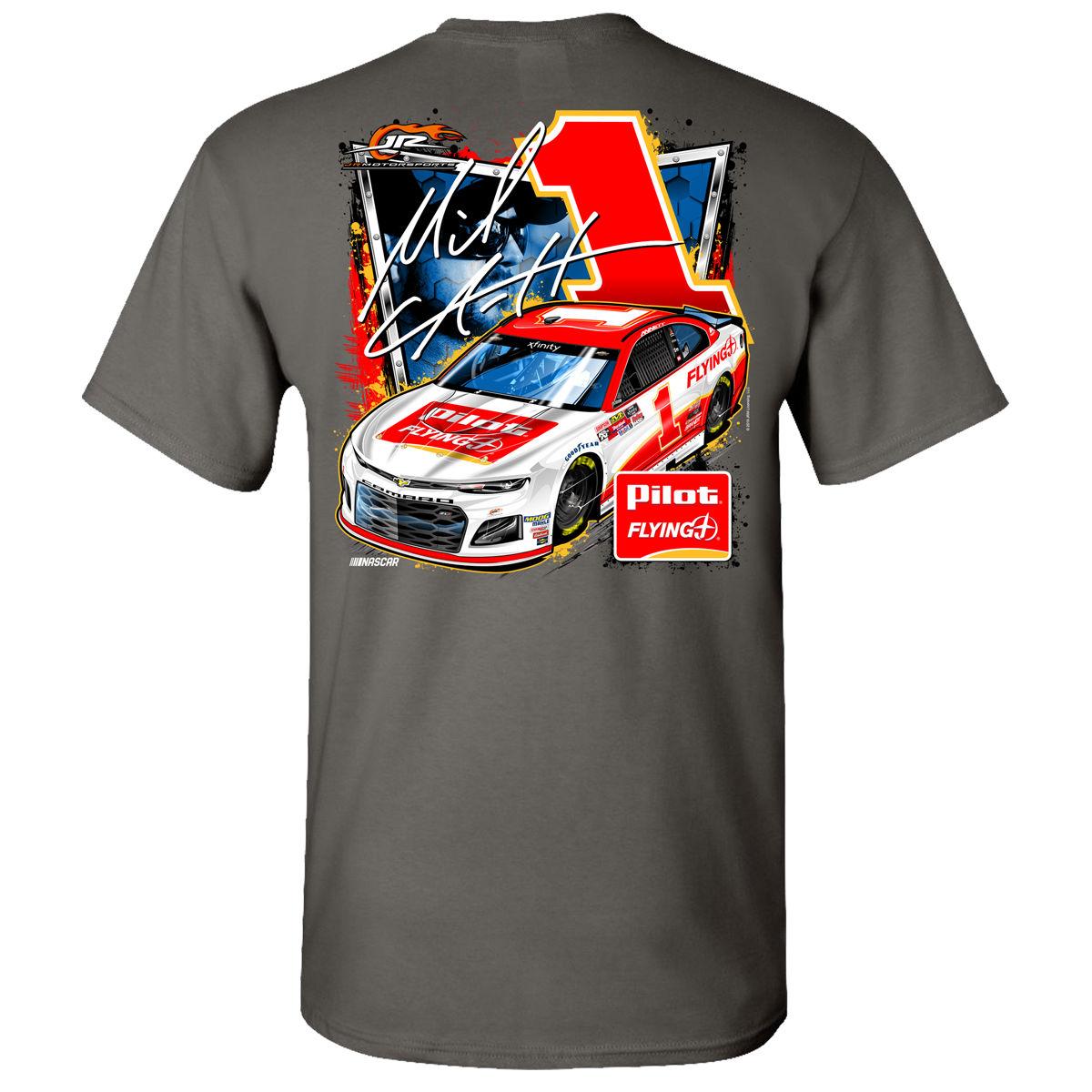 2019 NASCAR #1 Michael Annett Pilot Flying J Charcoal T-shirt