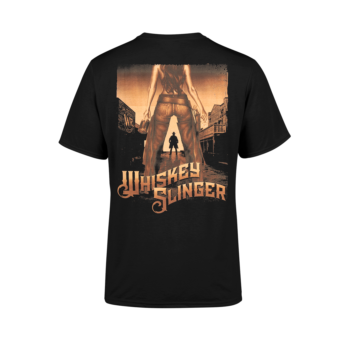 Whiskey Slinger Black T-shirt