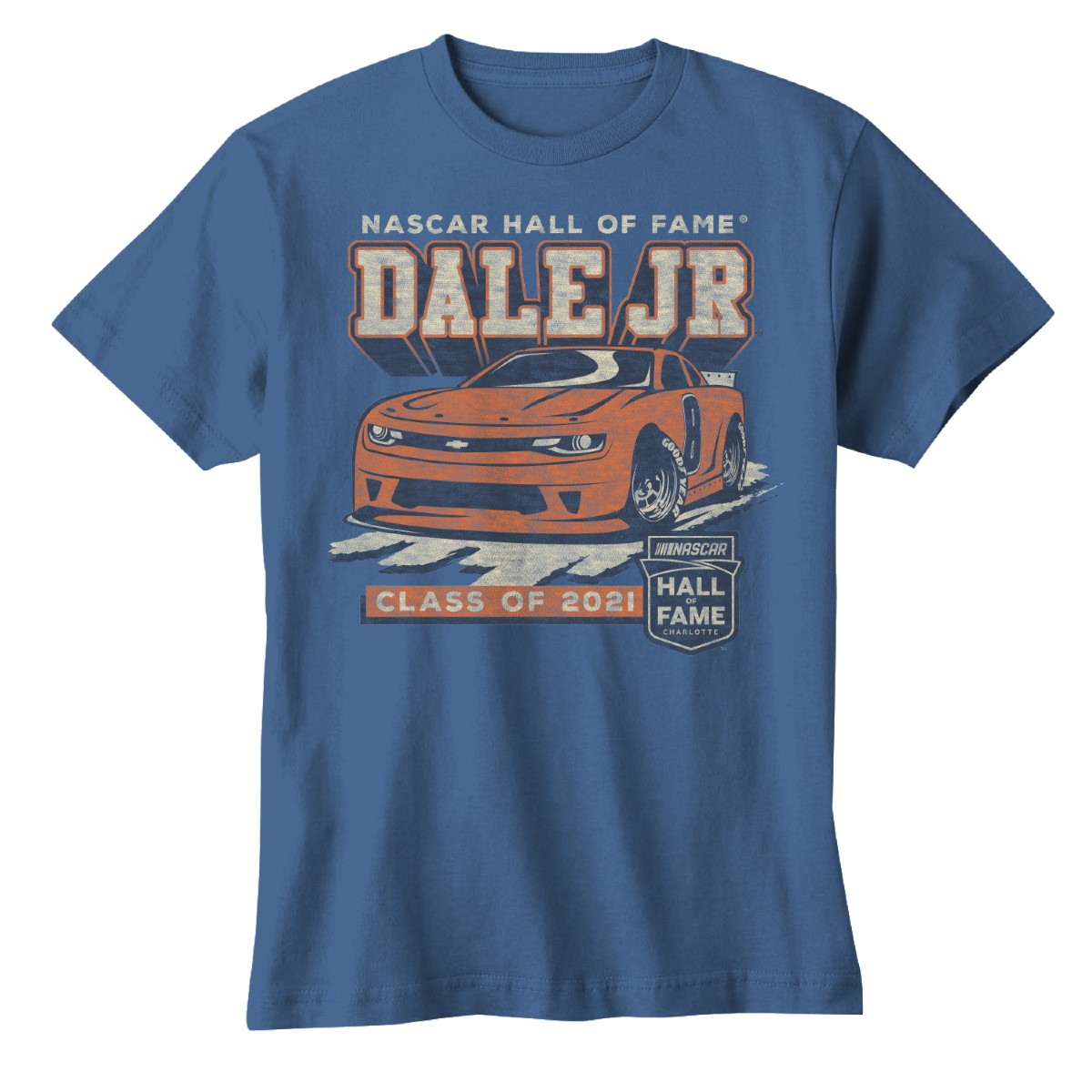 Dale Earnhardt Jr NASCAR Hall of Fame 2021 Youth T-shirt - Blue