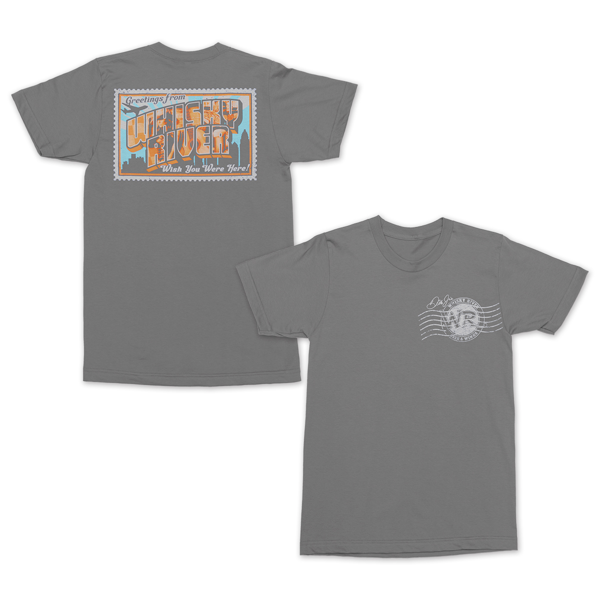Whisky River Postcard T-shirt