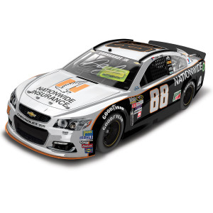 Dale Jr. 2016 #88 Darlington Nationwide Grey Ghost Retro 1:24 Scale Autographed Nascar Sprint Cup Series Die-Cast