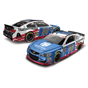 Dale Jr. 2016 #88 Nationwide Stars & Stripes 1:24 Scale Nascar Sprint Cup Series Die-Cast