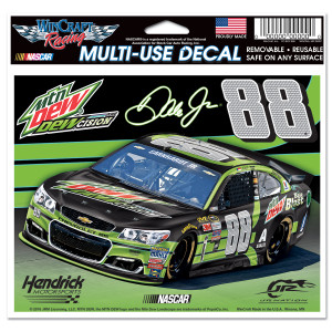"Dale Jr. #88 DEWcision 5"" x 6""Multi-Use Decal"