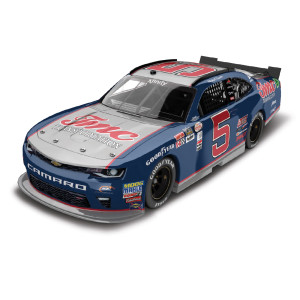 Autographed Michael Annett 2017 NASCAR Xfinity Series No. 5 TMC Transportation Throwback 1:24 Die-Cast