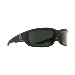 SPY Optic Dirty Mo Soft Matte Black Frame Happy Grey Green Lens