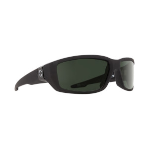 SPY Optic Dirty Mo Soft Matte Black Frame Happy Grey Green Polar Lens