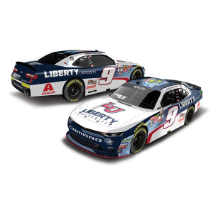 AUTOGRAPHED William Byron 2017 NASCAR Xfinity No. 9 Liberty University Rookie of the Year HO 1:24 Die-Cast