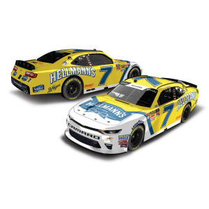 AUTOGRAPHED Justin Allgaier 2018 NASCAR Xfinity Series No. 7 Hellmans HO 1:24 Die-Cast
