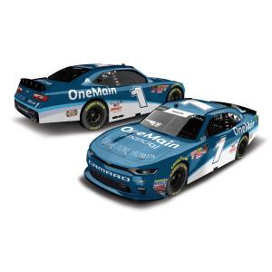 AUTOGRAPHED Elliott Sadler 2018 NASCAR Xfinity Series No. 1 OneMain Financial HO 1:24 Die-Cast