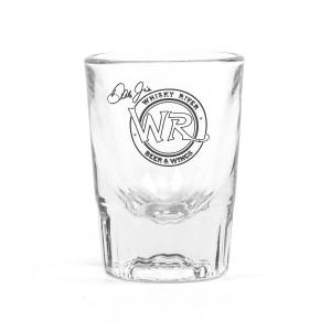 Whiskey River Clear Shot Glass
