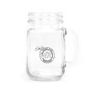 Whisky River Clear Mason Jar