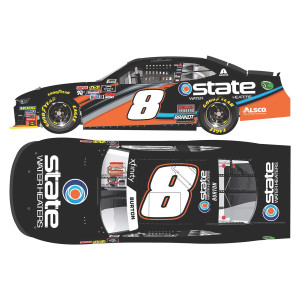 AUTOGRAPHED Jeb Burton 2019 #8 NASCAR State Water Heaters HO: 1:24 - Die Cast