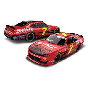 Justin Allgaier #7 Brandt 2020 NASCAR Xfinity Series Autographed: 1:24 Die Cast