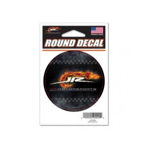 JR MOTORSPORTS ROUND VINYL DECAL 3X3