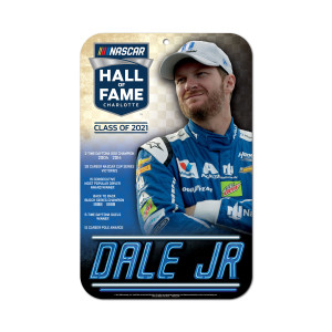"Dale Jr. NASCAR Hall of Fame 11"" x 17"" Sign"