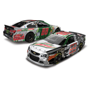 Dale Earnhardt Jr #88 2021 Bristol Diet Mountain Dew Checkers or Wreckers 1:24 ELITE Die-Cast