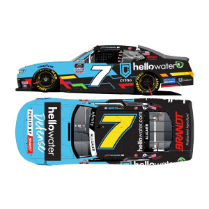 Autographed Justin Allgaier #7 2021 Hellowater Chevrolet 1:24 HO Die-Cast