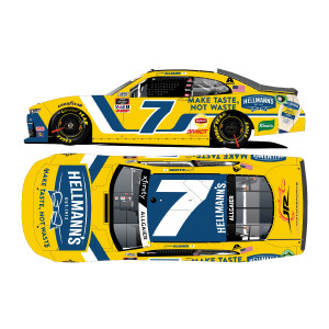 Autographed Justin Allgaier #7 Pocono Hellman's Recycled 1:24 HO Die-Cast