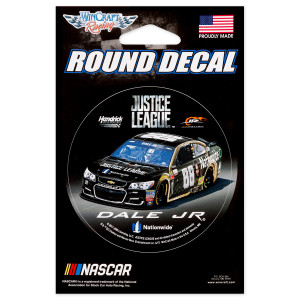 Dale Jr #88 2017 Justice League Round Decal - 3""