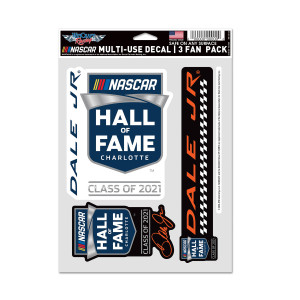Dale Jr 2021 NHOF Inductee Multi-Use Decal (3pc set)
