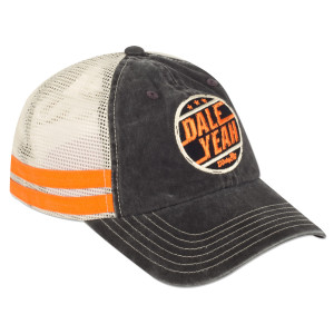 Dale Yeah Black/White Stripe Cap