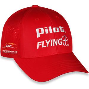 Michael Annett #1 2020 Pilot Flying Jr Motorsports Red Adjustable Hat