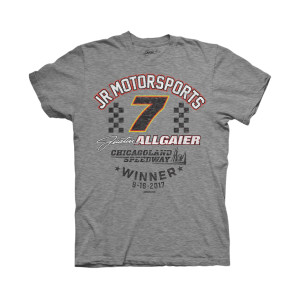 Justin Allgaier 2017 Xfinity Series CHICAGOLAND Victory T-shirt