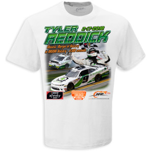 Tyler Reddick 2018 PowerShares QQQ 300 Win T-shirt